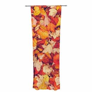 Debbra Obertanec Scarlet Crimson Decorative Graphic Print Text Sheer Rod Pocket Curtain Panels Set Of 2