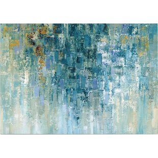 Modern abstract wall art allmodern for What kind of paint to use on kitchen cabinets for glass print wall art