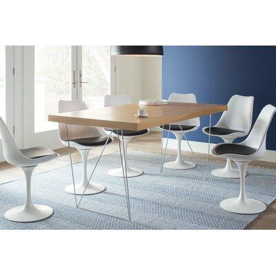 Brayden Studio Durkee Dining Table Color: Oak, Size: 63