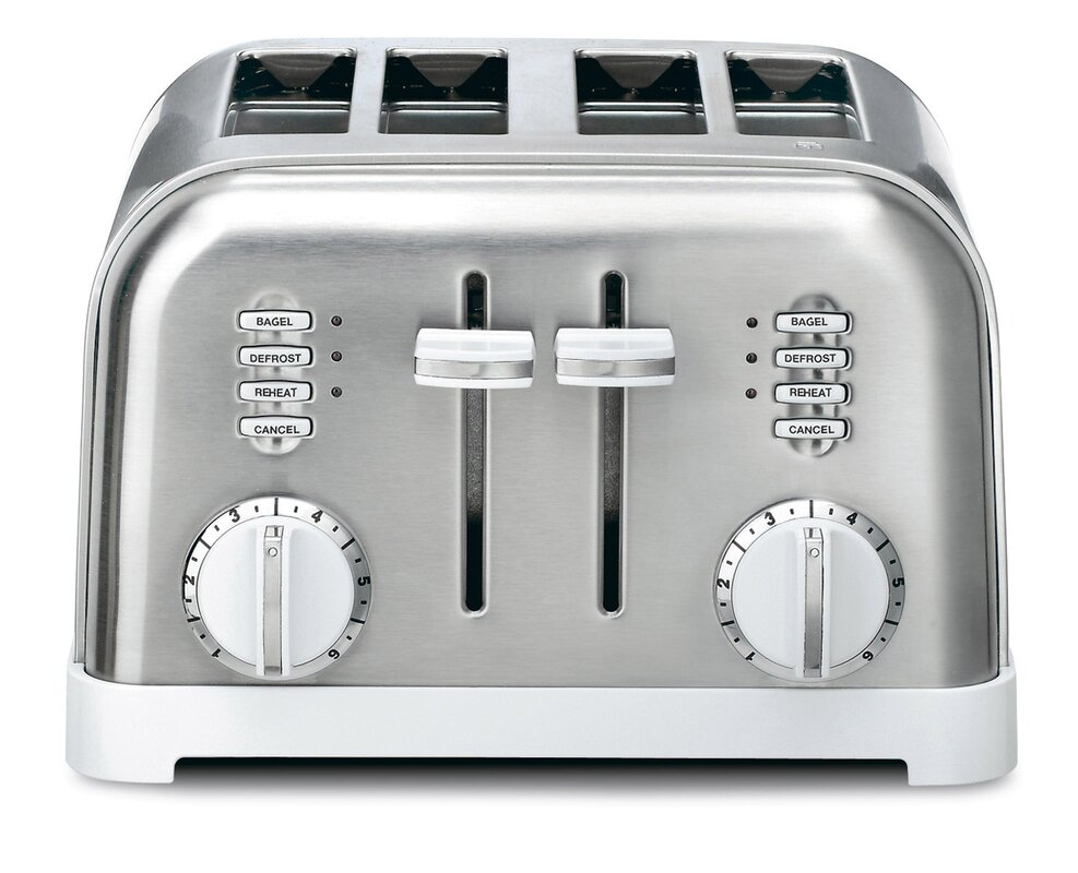 cuisinart metal steel control slice black oven image toaster stainless of dual classic