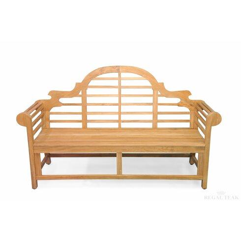 regal teak teak marlboro lutyens garden bench wayfair