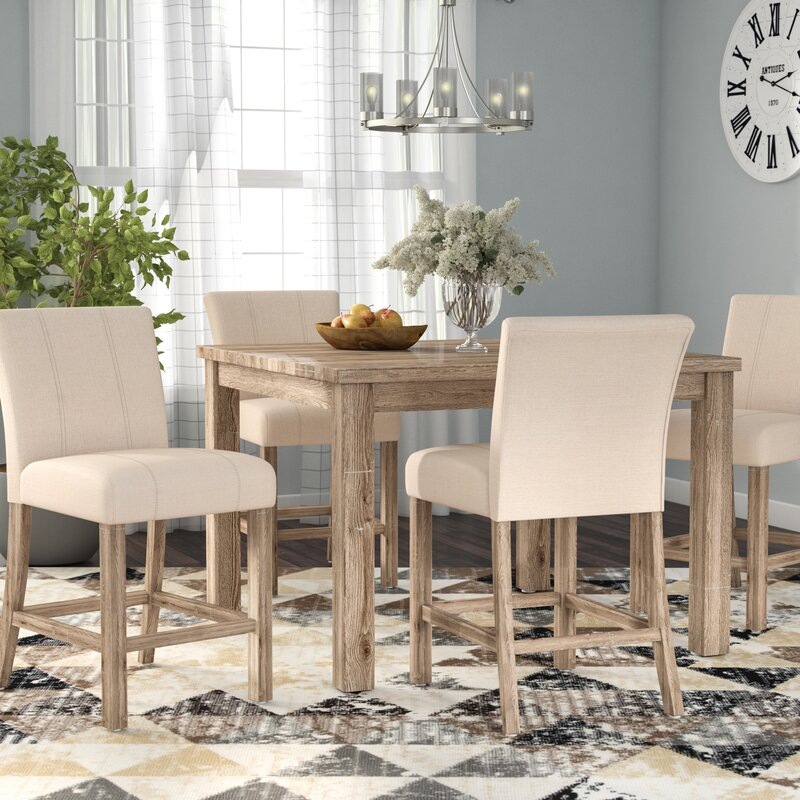 Charmant Shaunda Casual 5 Piece Counter Height Dining Set
