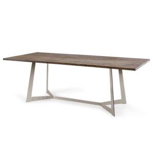Manes Drak Aged Oak Dining Table by Brayden Studio