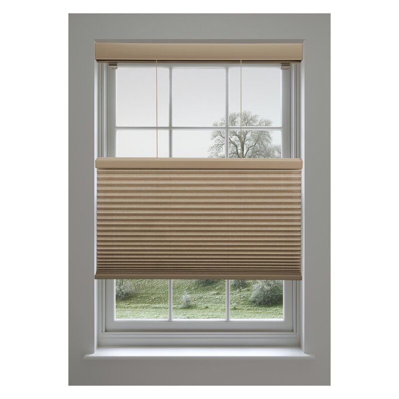 Linen avenue room darkening cellular shade reviews for Linen shades window treatments