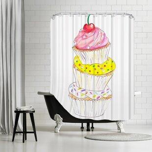 Palladium Cupcakes Shower Curtain