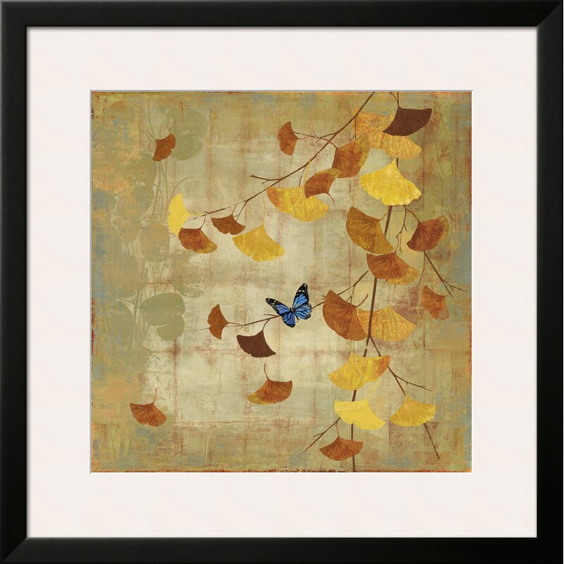 Art.com \'Ginkgo Branch II\' by Asia Jensen Framed Graphic Art | Wayfair