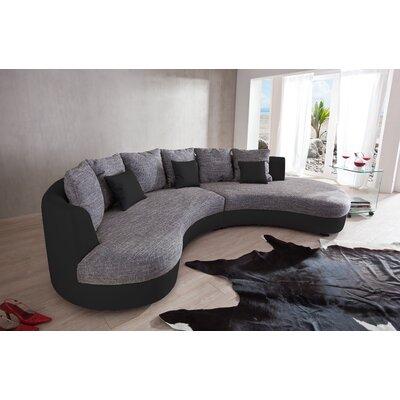 ecksofas wohnlandschaften polsterfarbe schwarz zum verlieben. Black Bedroom Furniture Sets. Home Design Ideas
