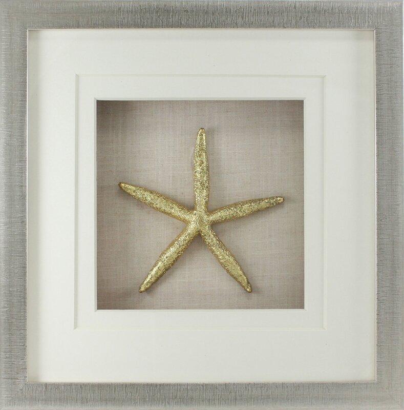 Fetco Home Decor Rozella Starfish Shadow Box Wall Décor & Reviews ...