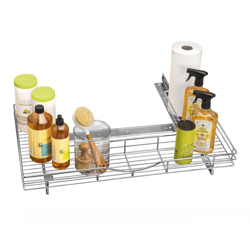 22 Birch Pull Out Shelf Kit One Shelf 1 4 Bottom: Lynk Professional® U-Shaped Roll Out Under Sink Drawer