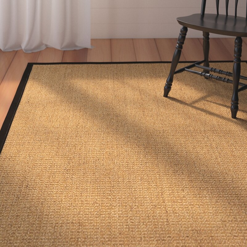 August Grove Belves Handwoven Beige Area Rug, Size: Rectangle 8 x 10