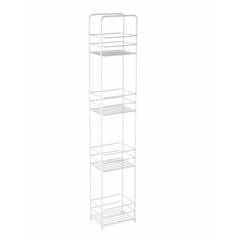 Wayfair Basics 4 Tier Square Bathroom Storage Caddy & Reviews ...