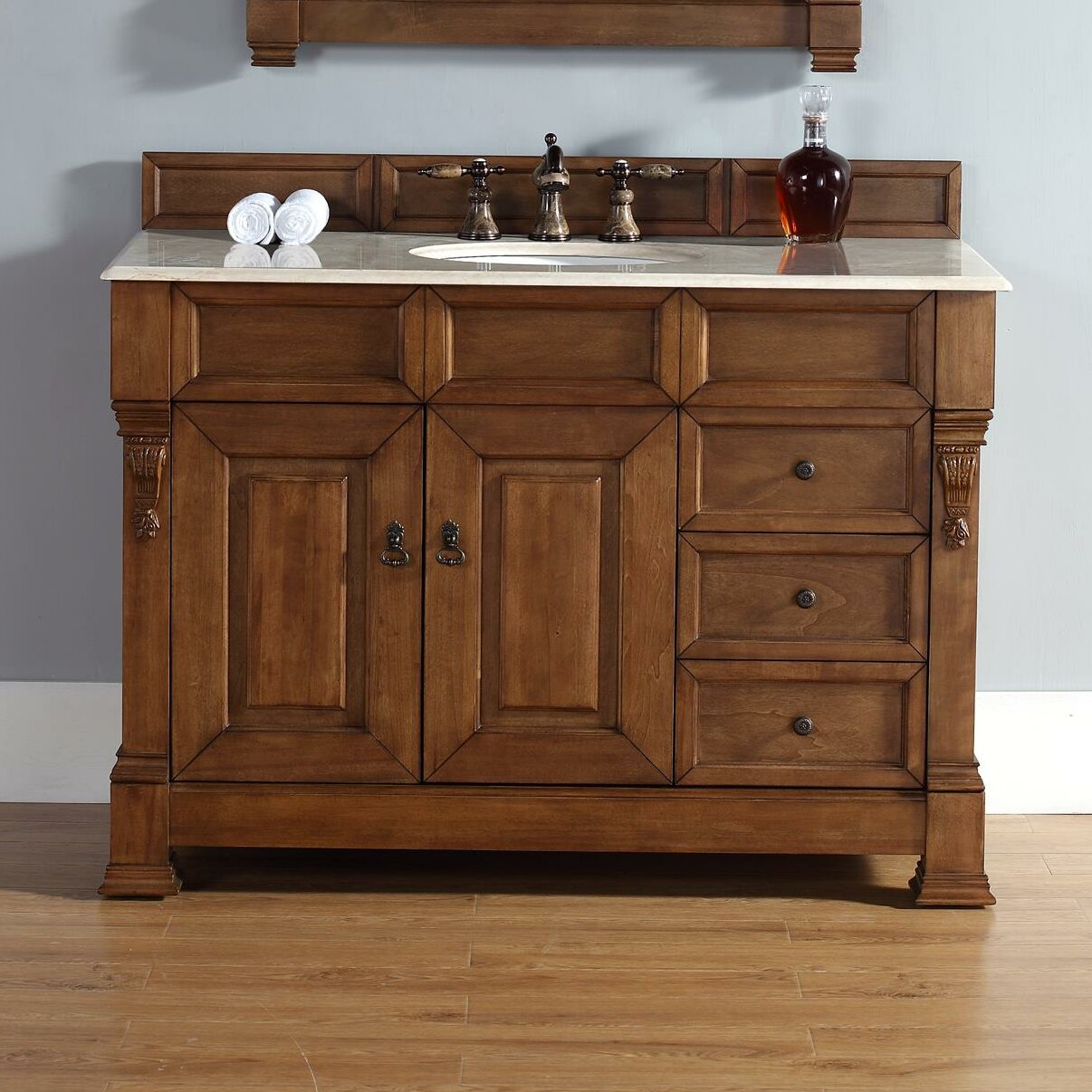Darby Home Co Bedrock 48 Quot Single Country Oak Bathroom