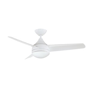 White cream ceiling fans youll love wayfair 42 rocket 3 blade ceiling fan with wall remote aloadofball Gallery