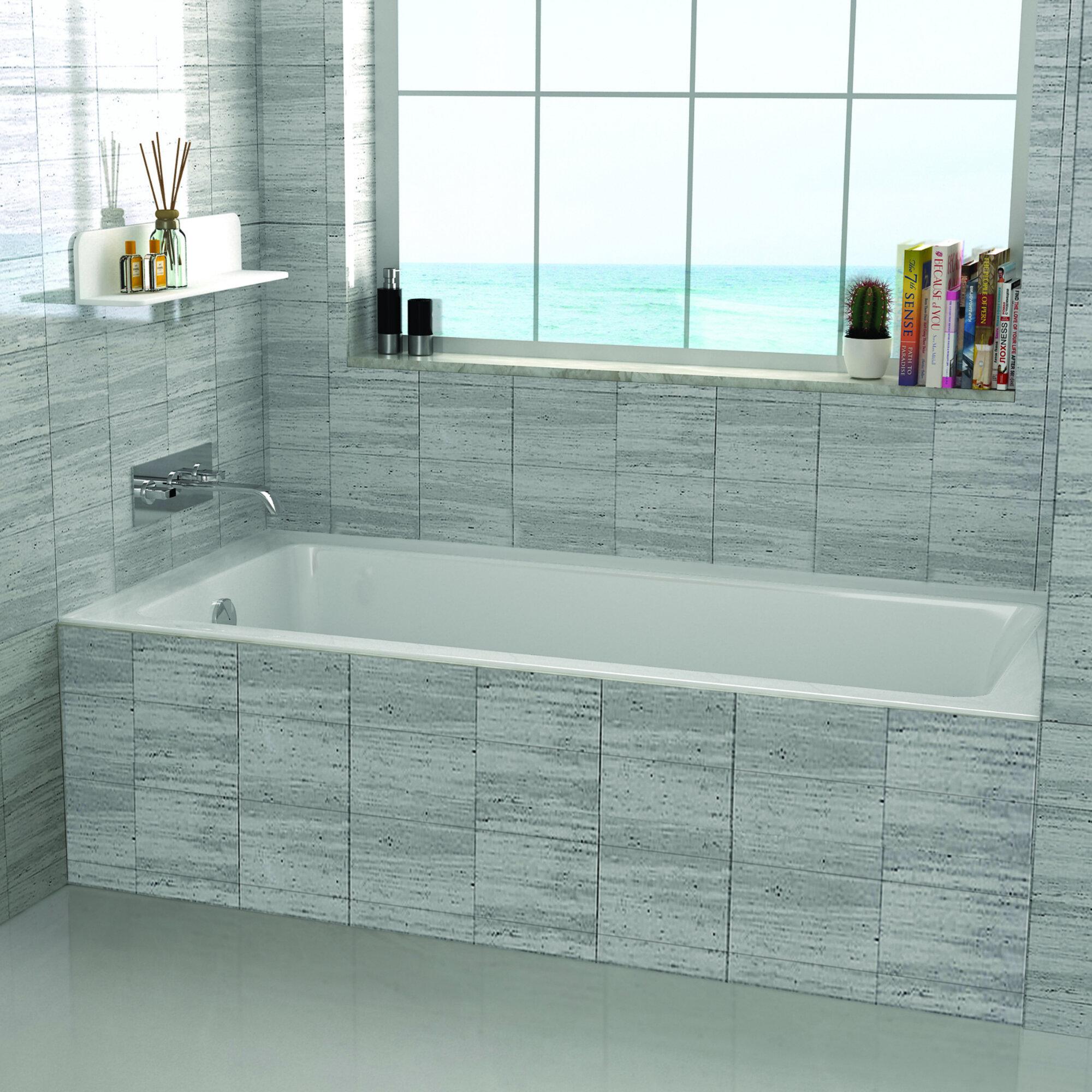 Fine fixtures drop in 36 x 72 soaking bathtub reviews wayfair