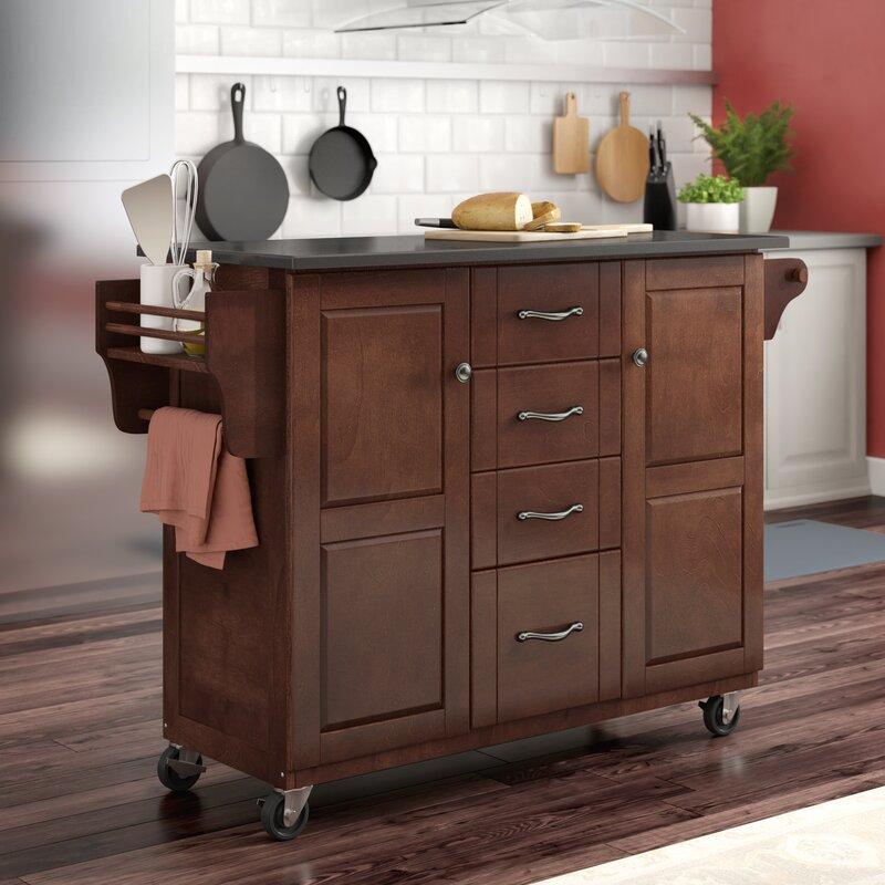 Iyana Kitchen Cart With Granite Top
