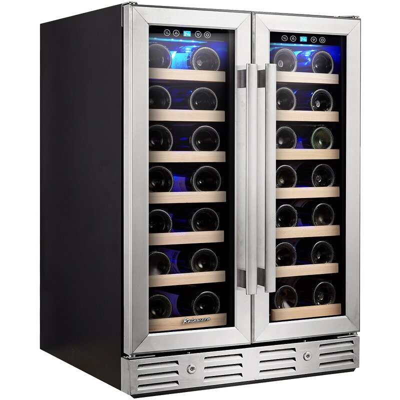 kalamera 40 bottle dual zone built in wine cooler reviews wayfair. Black Bedroom Furniture Sets. Home Design Ideas