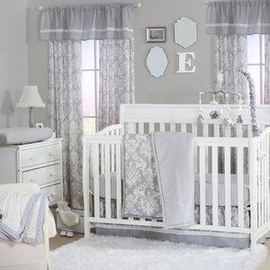 Damask Dot 4 Piece Crib Bedding Set
