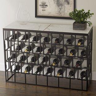 Marble Console 28 Bottle Floor Wine Rack