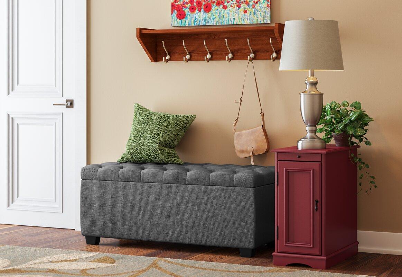 Upholstered Storage Entryway Bench: Virgil Upholstered Storage Bench & Reviews