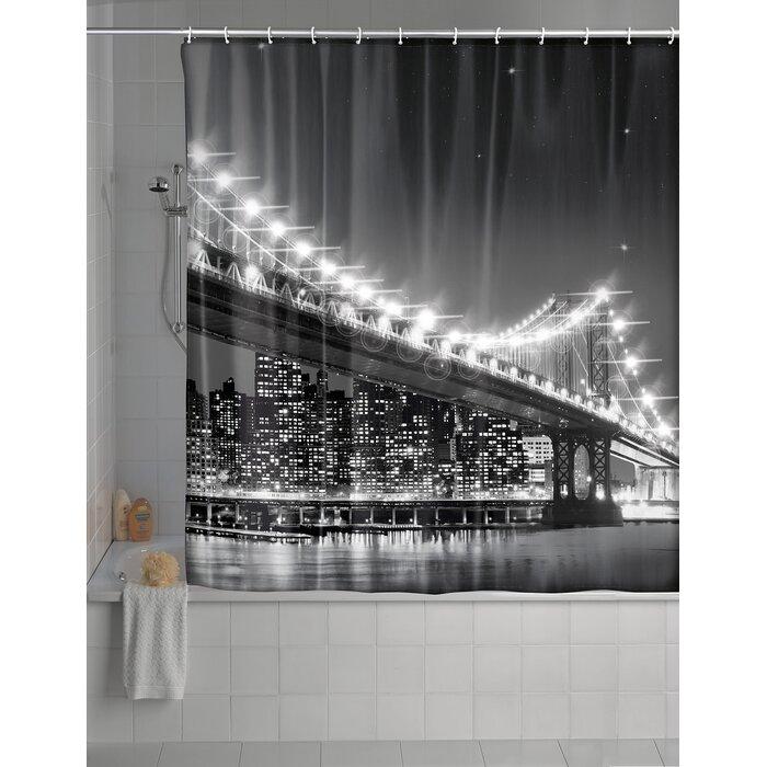 Brooklyn Bridge LED Shower Curtain