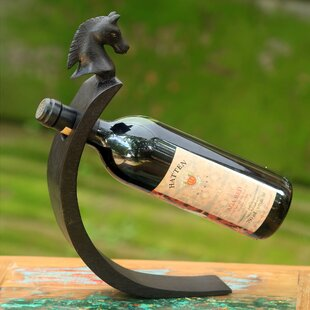 Wong Pony Wood 1 Bottle Tabletop Wine Bottle Rack