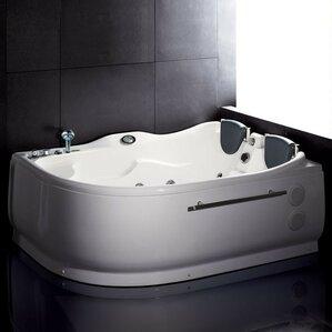 Corner Bathtubs Youll Love Wayfair - Corner tub with jets