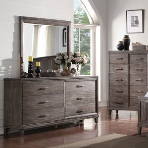 Coline 6 Drawer Double Dresser with Mirror by Gracie Oaks