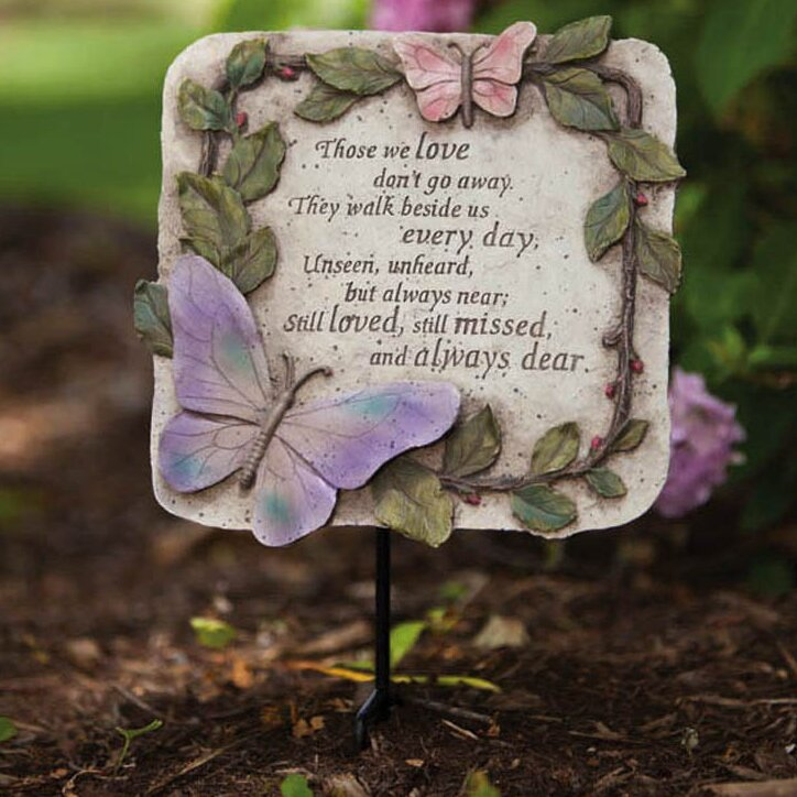 Evergreen Flag Amp Garden Those We Love Garden Plaque