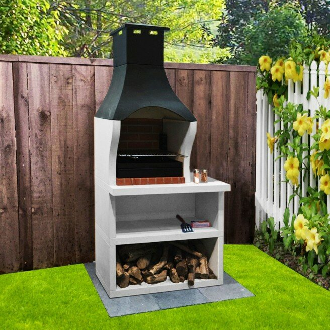 53cm Firenze Charcoal Built In Barbecue With Side Table