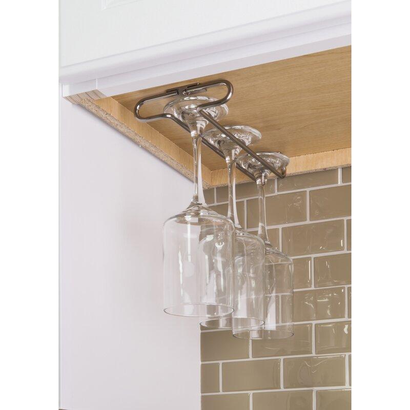 hardware resources under cabinet hanging wine glass rack. Black Bedroom Furniture Sets. Home Design Ideas