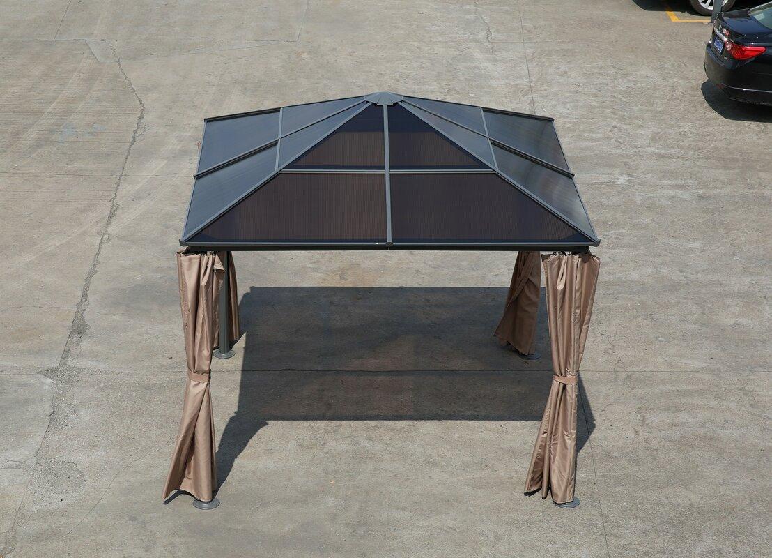 greemotionuk 300 cm x 300 cm terrasse pavillon hardtop aus stahl bewertungen. Black Bedroom Furniture Sets. Home Design Ideas
