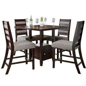 Attractive Leiters Transitional 5 Piece Counter Height Dining Set