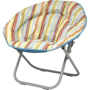 Urban Shop Surfer Stripe Saucer Papasan Chair by Idea Nuova