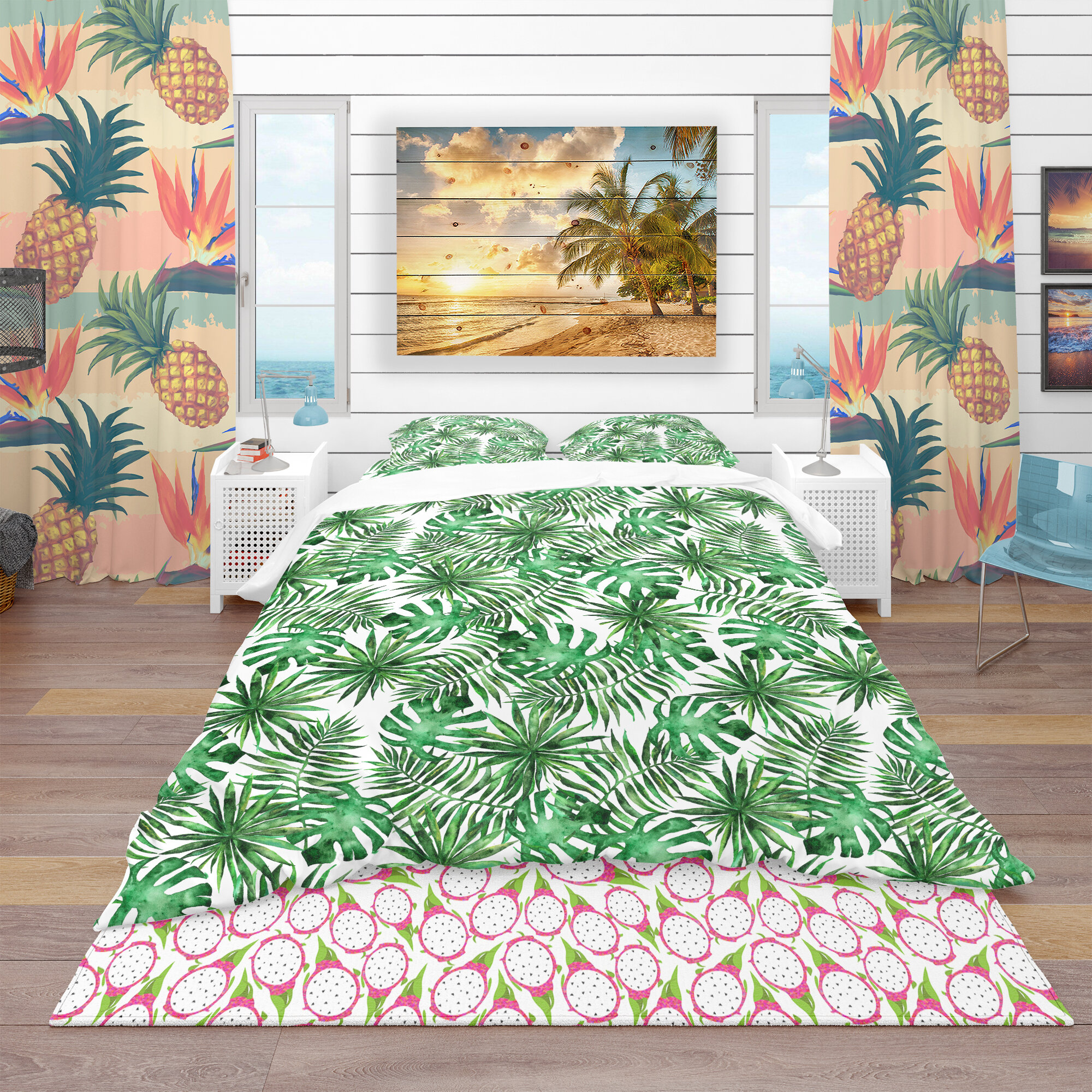 East urban home tropical duvet cover set wayfair