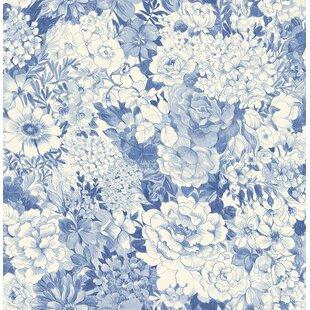 Navy floral wallpaper wayfair quickview mightylinksfo