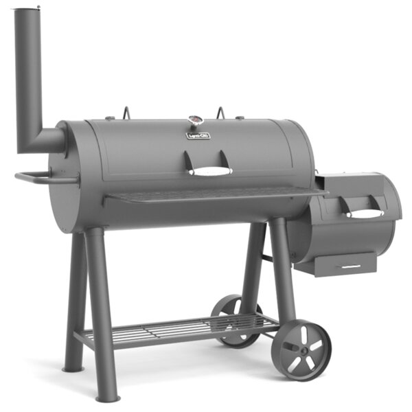"""This Heavy Duty Galvanized Steel Framed Grill Island: Dyna-Glo 962"""" Square Offset Charcoal Smoker & Grill"""
