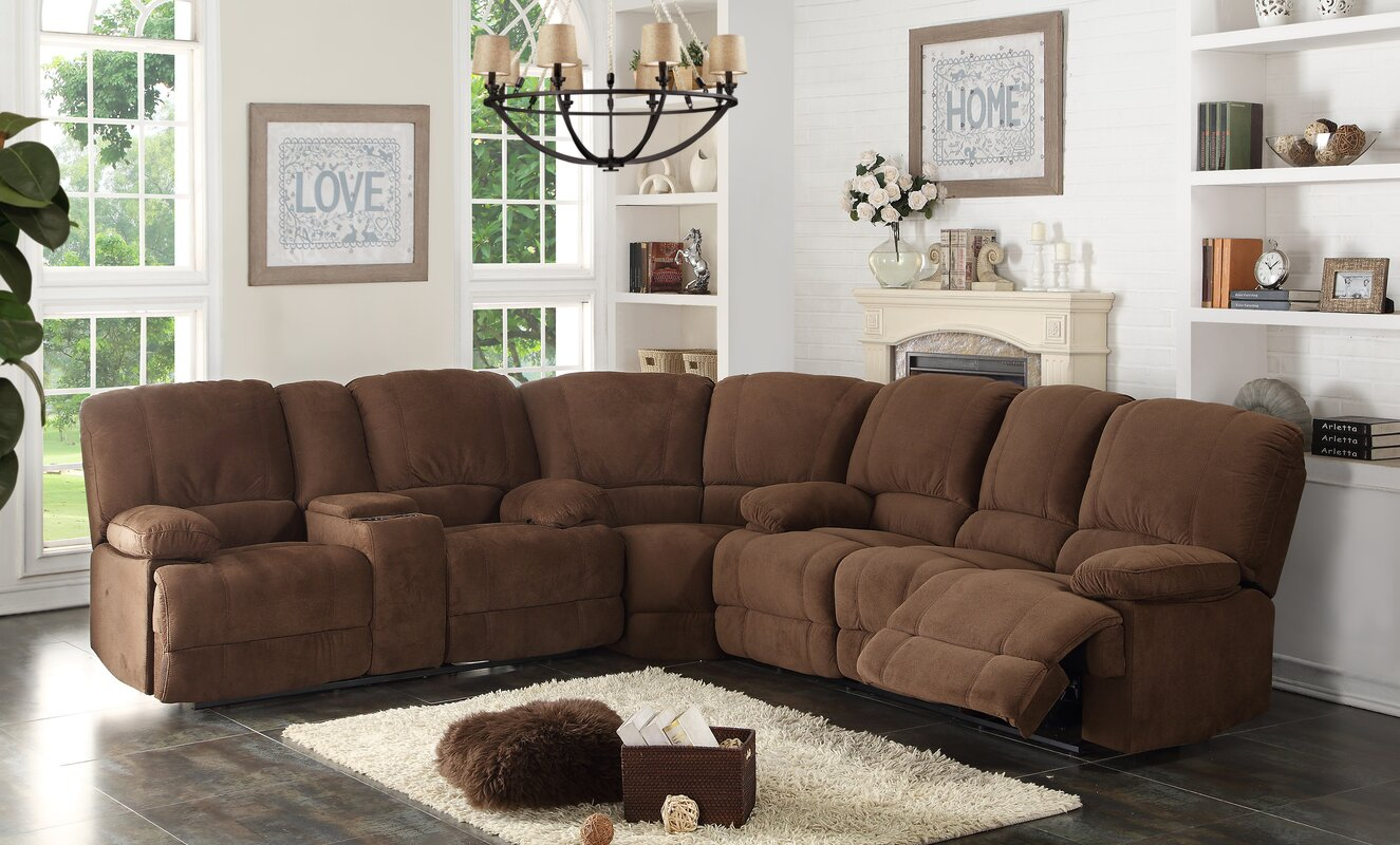 AC Pacific Kevin Reclining Sectional & Reviews