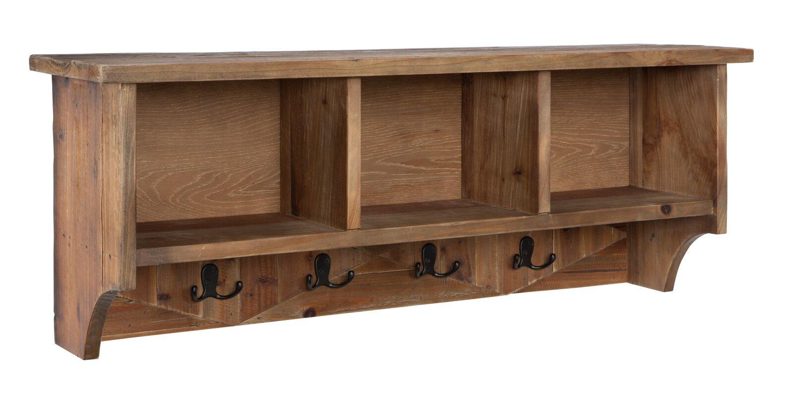 fancy wood wall mounted coat rack 10