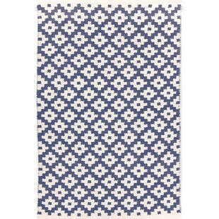 Samode Hand Woven Blue White Indoor Outdoor Area Rug