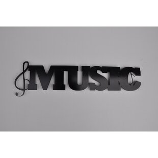 Metal Music Word Wall Décor