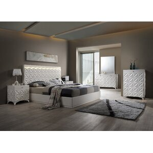 Amazing India Platform 5 Piece Bedroom Set