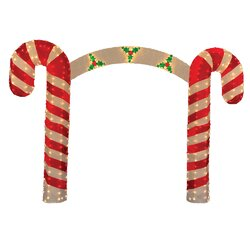 Product Works Candy Cane Christmas Archway Yard Art Decoration ...