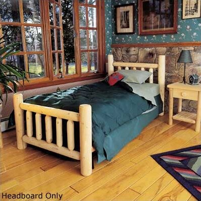 Rustic Log Bed Slat Headboard