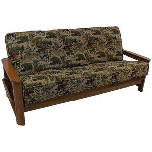 tapestry box cushion futon slipcover futon covers you u0027ll love   wayfair  rh   wayfair
