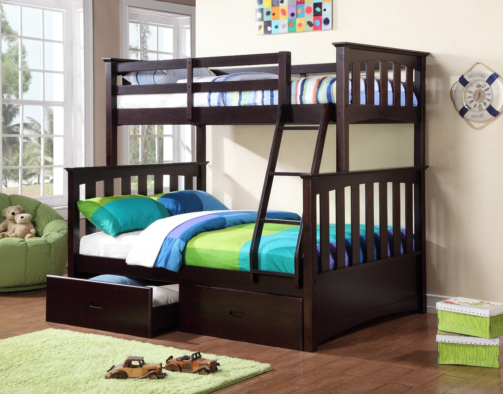 Twin Bunk Beds With Storage Part - 22: Kira Twin Over Full Bunk Bed With Storage