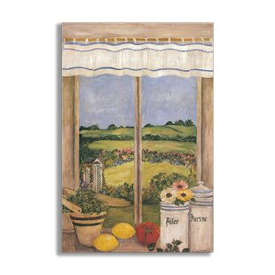 Tuscan Kitchen Faux Window Scene Wall Plaque