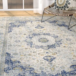 Elson Loomed Ivory Blue Area Rug