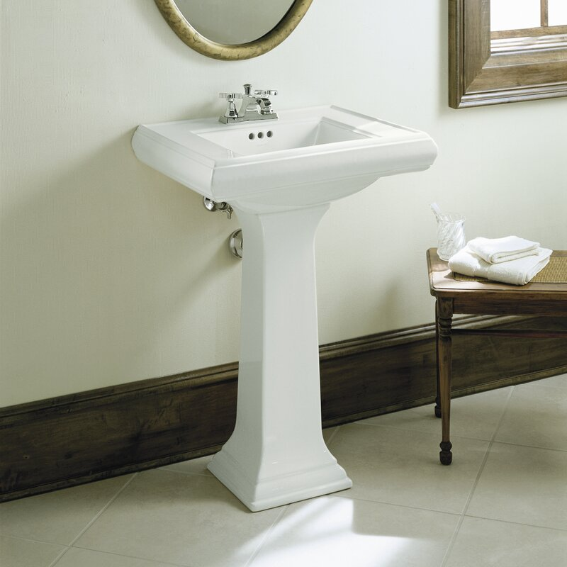 Memoirs  Ceramic 24  Pedestal Bathroom Sink with Overflow. Kohler Memoirs  Ceramic 24  Pedestal Bathroom Sink with Overflow
