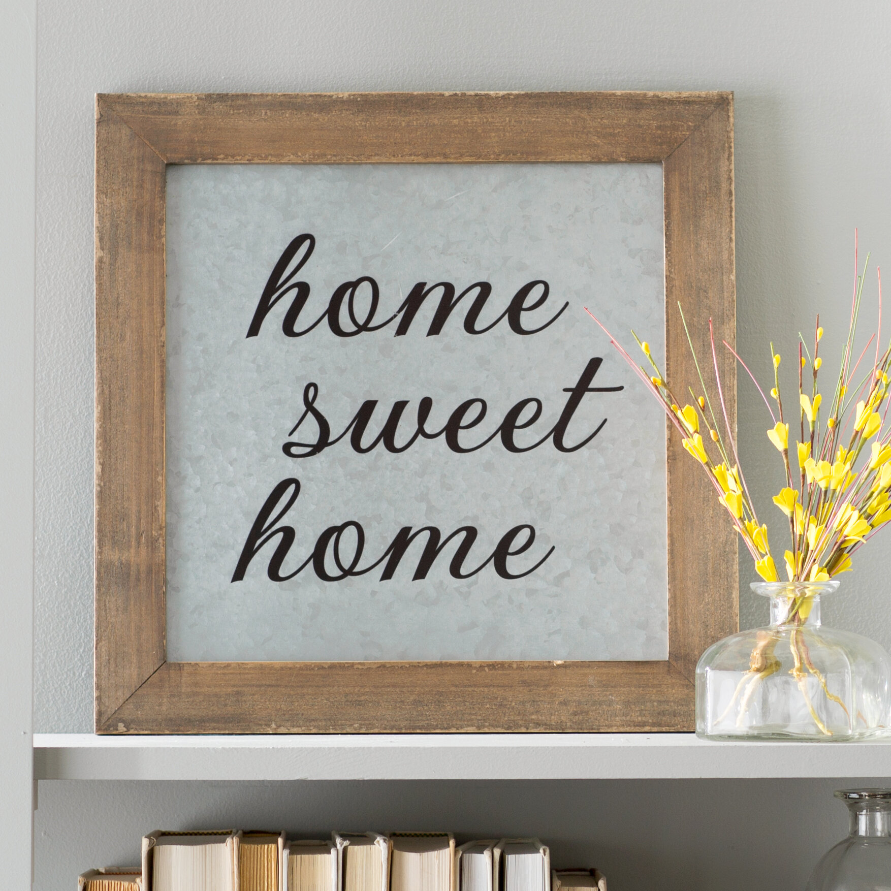 Delightful Laurel Foundry Modern Farmhouse Home Sweet Home Galvanized Metal Wall Décor  U0026 Reviews | Wayfair