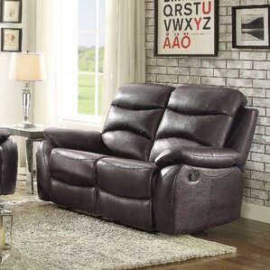 Lynx Double Leather Reclining Loveseat by Latitude Run